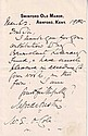 Alfred Austin hand written letter (30 May 1835 - 2