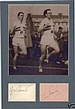 Roger Bannister & Chris Brasher Autographs. Signed
