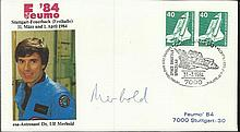 Cosmonaut signed 1984 ESA cover dedicated to and