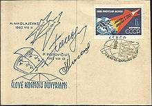 Cosmonaut signed Attractive 1963 Vostok 3 and