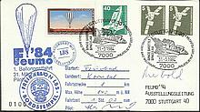 Cosmonaut signed Unusual 1984 German Balloon cover