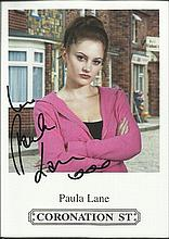 Coronation Street signed photographs 1. Ten 6 x 4