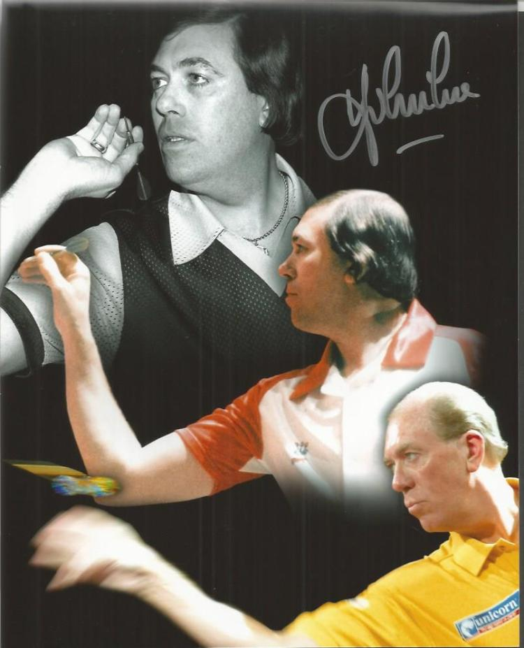 Darts Autographed Photo Collection. Four individua