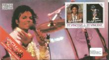 Michael Jackson first day cover collection. Four i