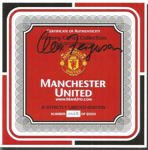 Sir Alex Ferguson signed Manchester United card co