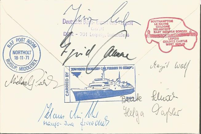 Multi-Signed Return to Colditz Castle cover. Scarc