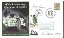 Colditz POWs Capt Green and Lt Cdr Crisp signed co