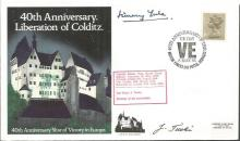 Colditz POWs Jimmy Yule and J Tucki signed cover.