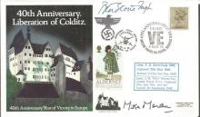 Colditz POWs P Storie-Pugh and Lt Mike Moran signe