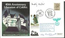 Colditz POWs Dusty Miller and Vic Vercoe signed co