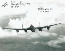 Lancaster Pilots and Veterans signed photograph. H