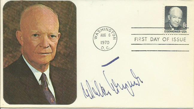 Walter Krupinski autographed cover. 1970 US Eisenh