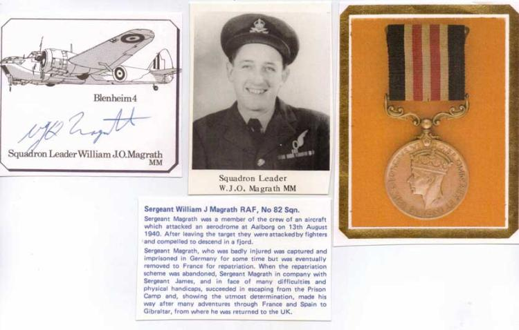 Signature of Bomber Command aircrew POW escaper SQ