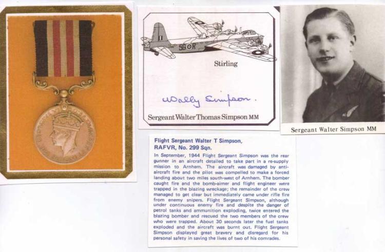 Signature of Bomber Command rear gunner SERGEANT W
