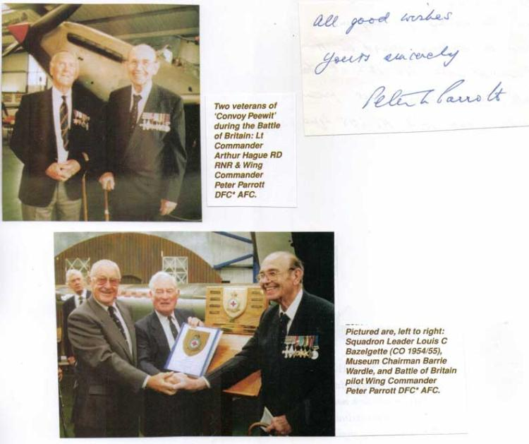 Signature of SQUADRON LEADER PETER LAWRENCE PARROT