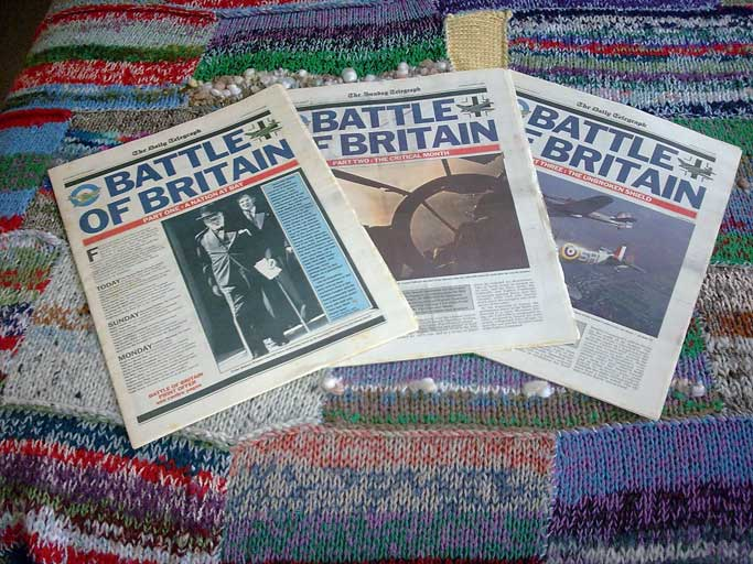 Battle of Britain 50th anniversary 1990.  Set of 3