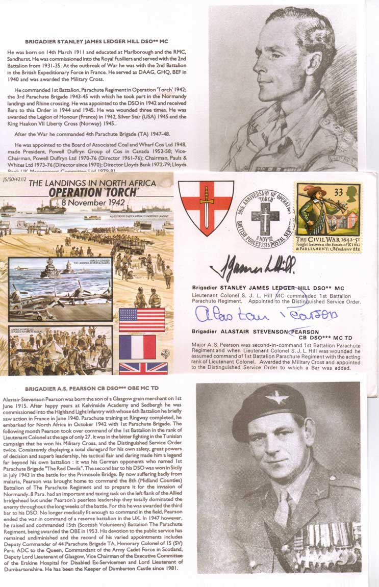 JS WW2 Series FDC commemorating Operation Torch (1