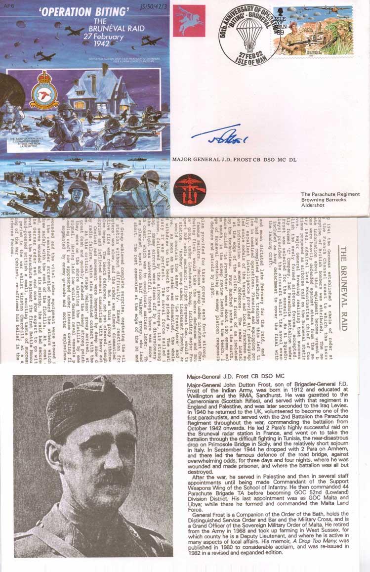JS WW2 series FDC commemorating Operation Biting T
