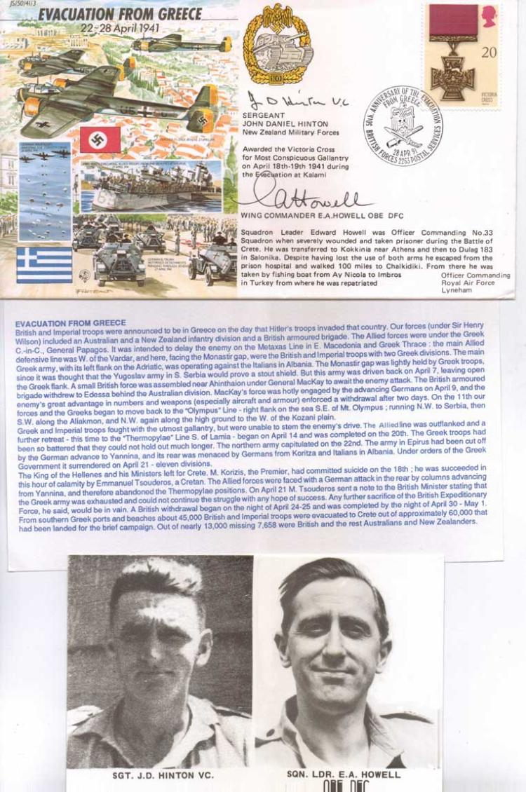 JS WW2 series FDC EVACUATION FROM GREECE 22-28 Apr