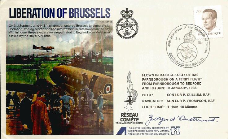 WW2 Liberation of Brussels FDC signed resistance h