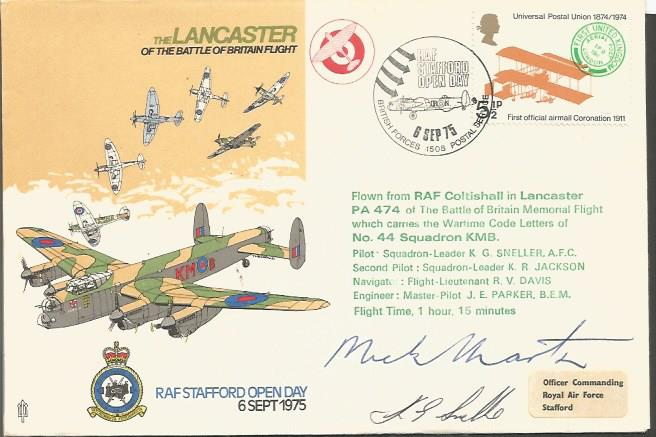 Dambuster Mick Martin autographed cover. 1975 Lanc