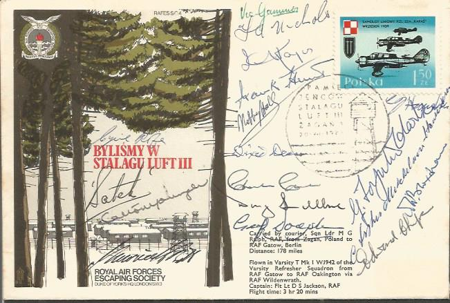POW Stalag Luft signed cover. Incredibly scarce va
