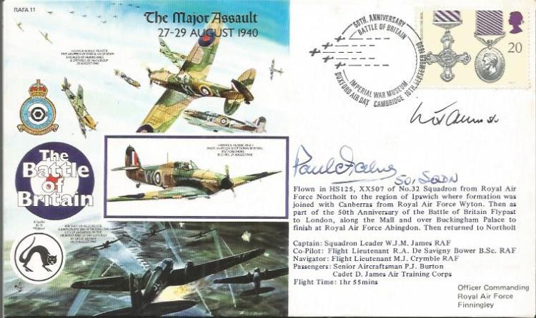 Sgt Paul Farnes 501 Sqn Battle of Britain signed 5