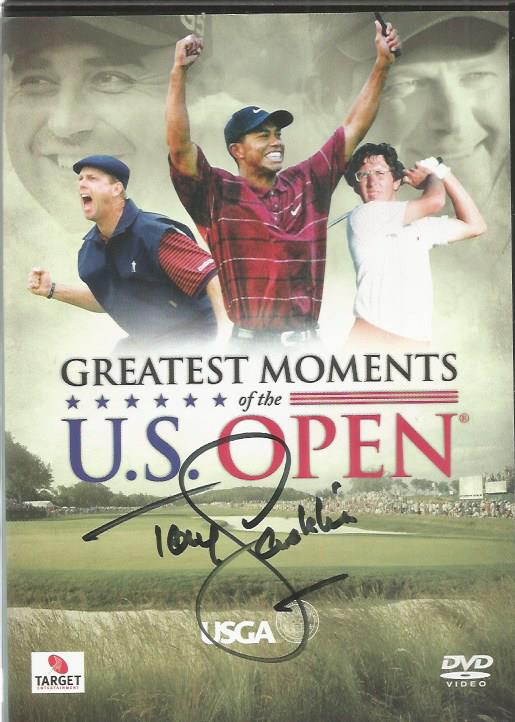Tony Jacklin signed Greatest Moments of the US Ope