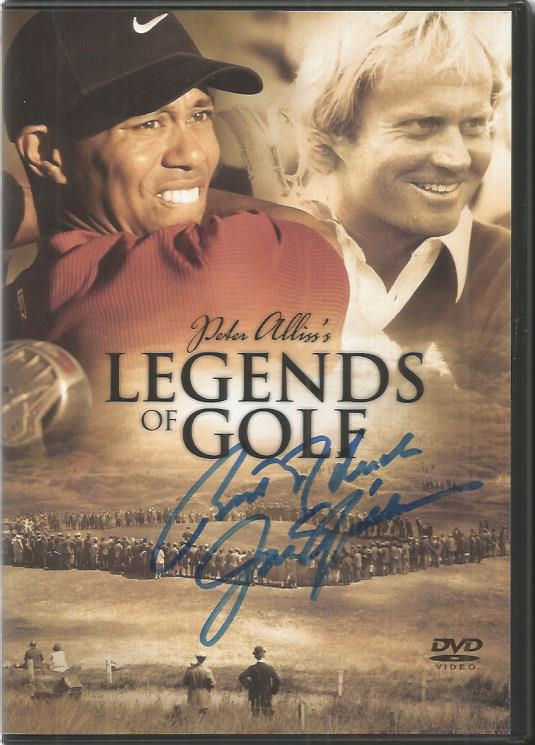 Jack Nicklaus signed slip cover for Peter Alliss's