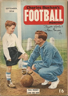 Tom Finney and Charles Buchan signed magazine. Cha