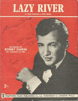 Bobby Darin, Sandra Dee and one other signed  Lazy