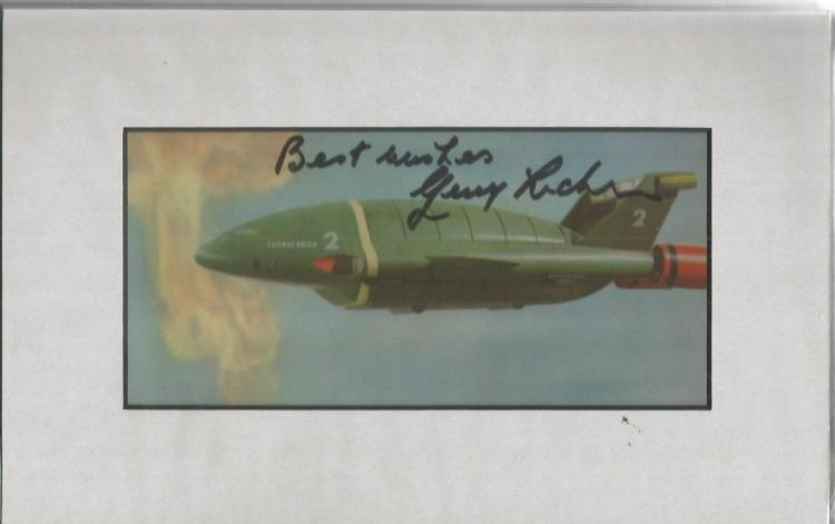 Gerry Anderson signed colour photo. Nice 7x3.5 col