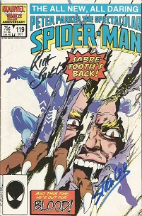 Stan Lee and one other signed The Spectacular Spid
