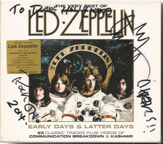 Jimmy Page signed Led Zeppelin CD. Boxed CD set of