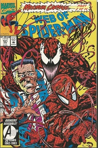 Stan Lee signed Web of Spiderman maximum carnage p