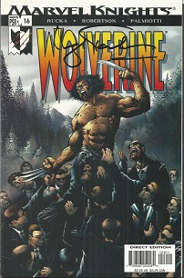 Hugh Jackman Signed Wolverine comic.  Signed on fr