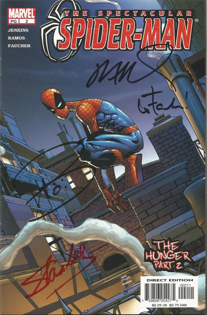 Set of Seven autographed Marvel Spiderman Comics.
