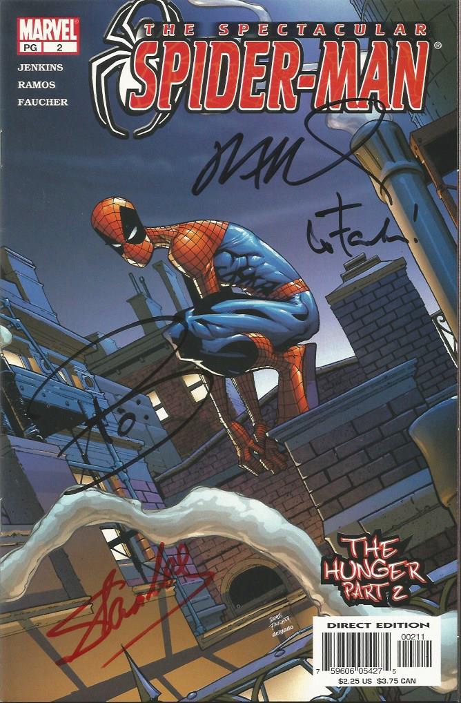 Set of Seven autographed Marvel Spiderman Comics.