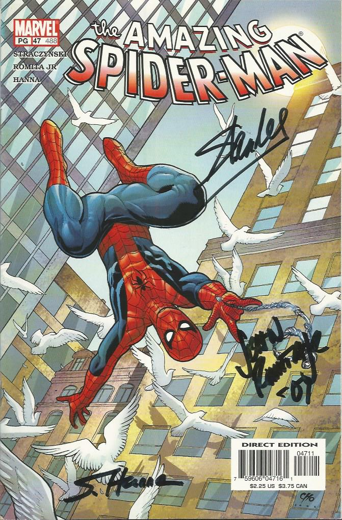 Set of Seven autographed Marvel comics. Spectacula