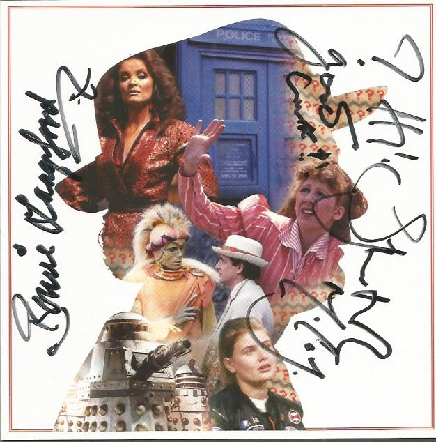 Bonnie Langford and Sylvester McCoy signed Dr Who