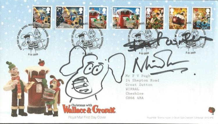 Nick Park illustrator of Wallace & Gromit signed C
