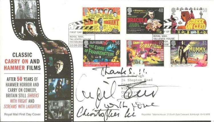 Christopher Lee and one other signed Classic Carry