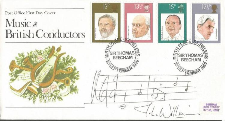 John Williams signed Music British Conductors FDC.