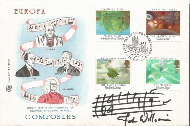 John Williams signed 300th birth anniversary of Ge