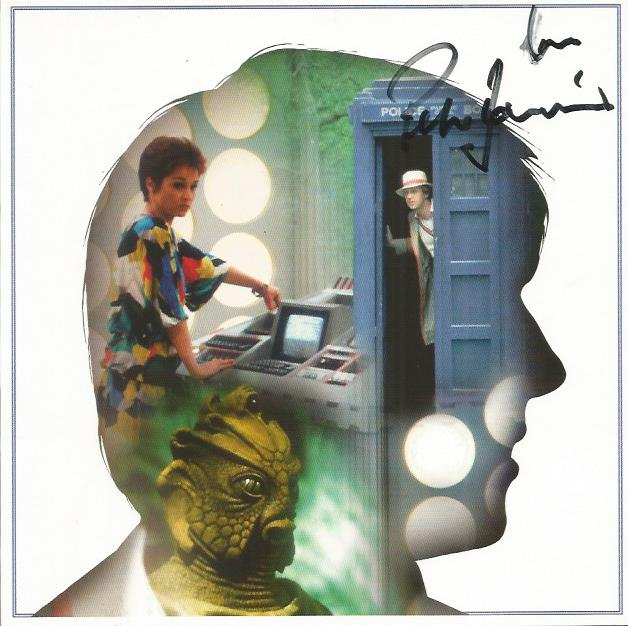 Peter Davison signed Dr who blank greetings card G