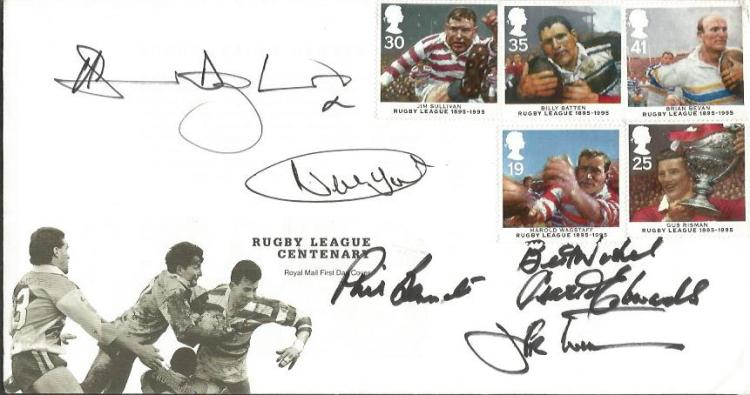 Rugby Stars signed cover. Royal Mail Rugby League