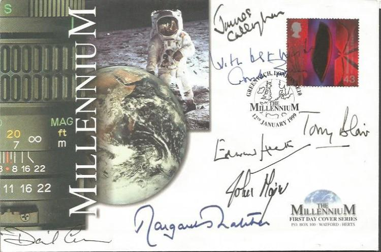 Prime Ministers autographed cover. Rare 1999 Mille
