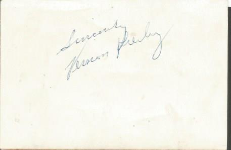 Vernon Presley signed photo. Rare and unusual 4x3