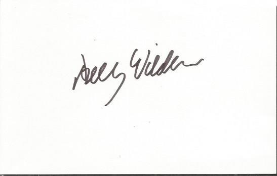 Billy Wilder signed card. 6x4 white index card sig
