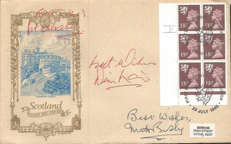 Manchester United legends signed cover. Pat Creran